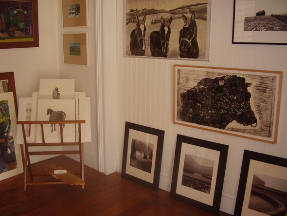 Works from some of the featured artists at Sixty-One Main