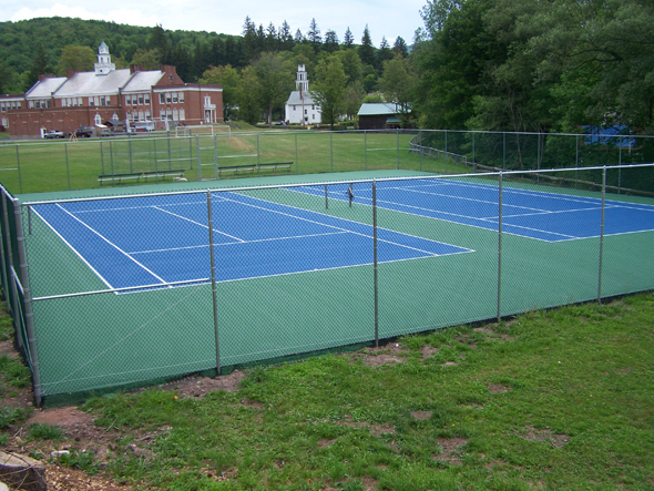 New tennis courts are a welcome addition to school's facilities