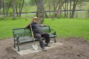 Grumpy old Bill P. takes a well-deserved break on the finished project