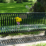PARK BENCH DEDICATED TO GEORGE CALVERT 