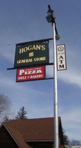 New sign was installed at Hogan's General Store. Given the shamrock, do you think Don might be Irish?