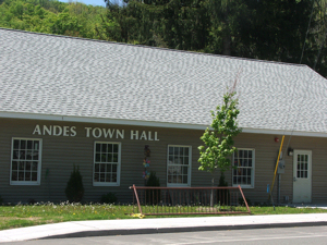 Andes Town Hall has a new home