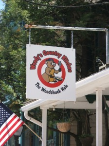 Stop by Woody's Country Kitchen to find out what The Woodchuck Hole is.