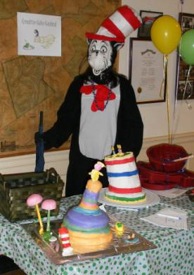 Karli Tait as The Cat in the Hat pose with some of the Creative Cake Contest
