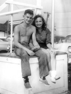 Tyler and Lesley Gray as teenagers