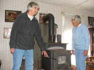 The stove that helped Betty and Mary survive the storm
