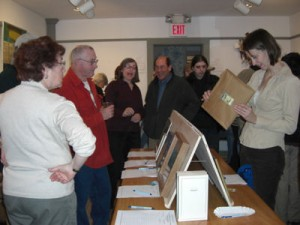 A good crowd turned out for the Library's Silent Auction