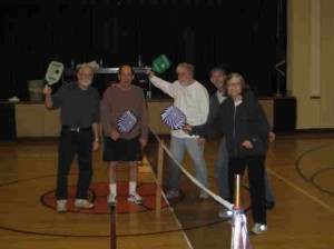 Pickleball players gather for a spirited game at ACS gym