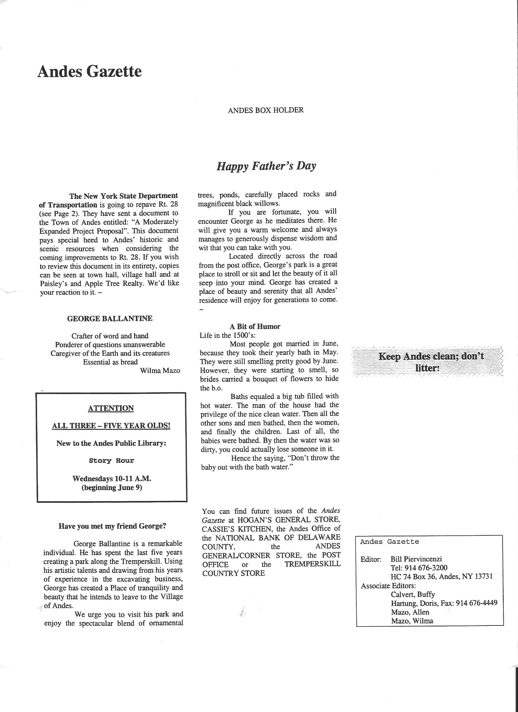 ANDES GAZETTE - JUNE 1999 - Page 4