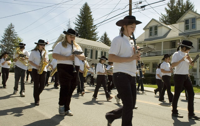 The Andes Central School band provided music for the Memorial Day parade   -   Photo by Joe Damone