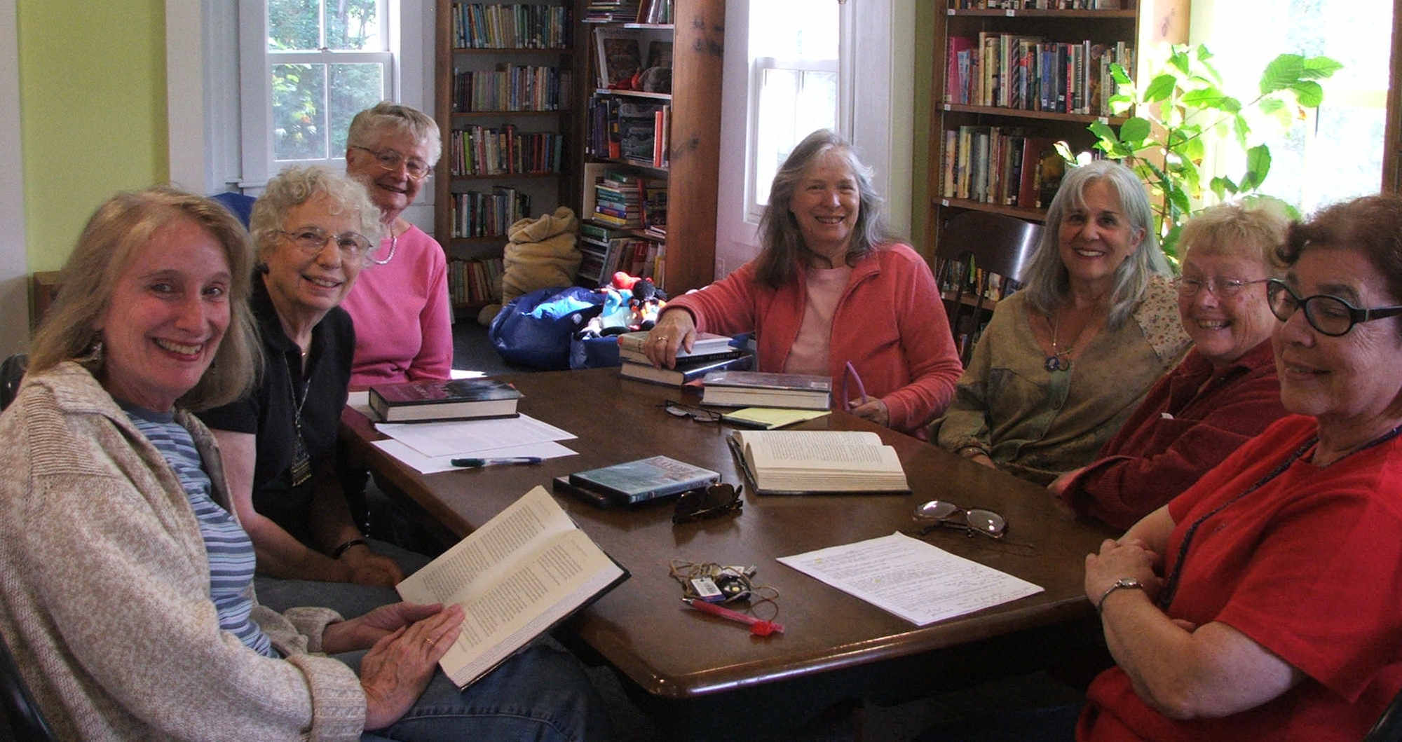 Leigh Infield, Phyllis Galowitz, Buffy Calvert, Garnette Arledge, Judy Garrison, Joi Brundege and Rima Walker share thoughts on one of the selected books