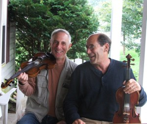 Jeff Ditchek and Peter Lederman fiddle some tunes