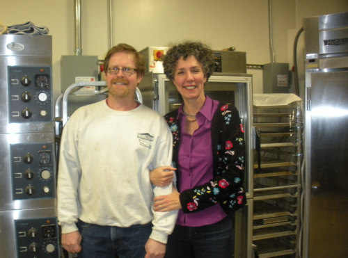 John and Anne Gohorel in the new bakery