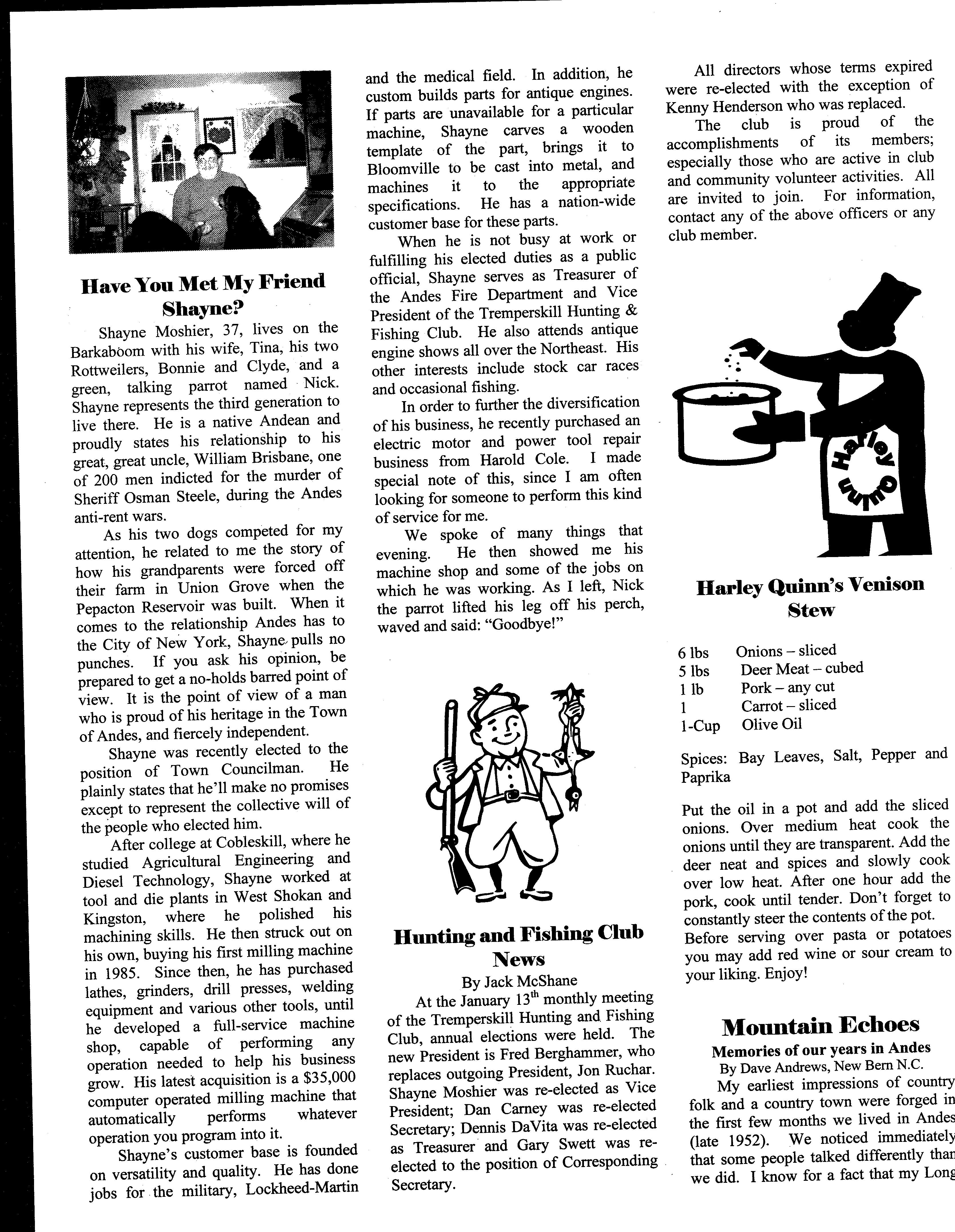 ANDES GAZETTE - February 2000 - Page 8