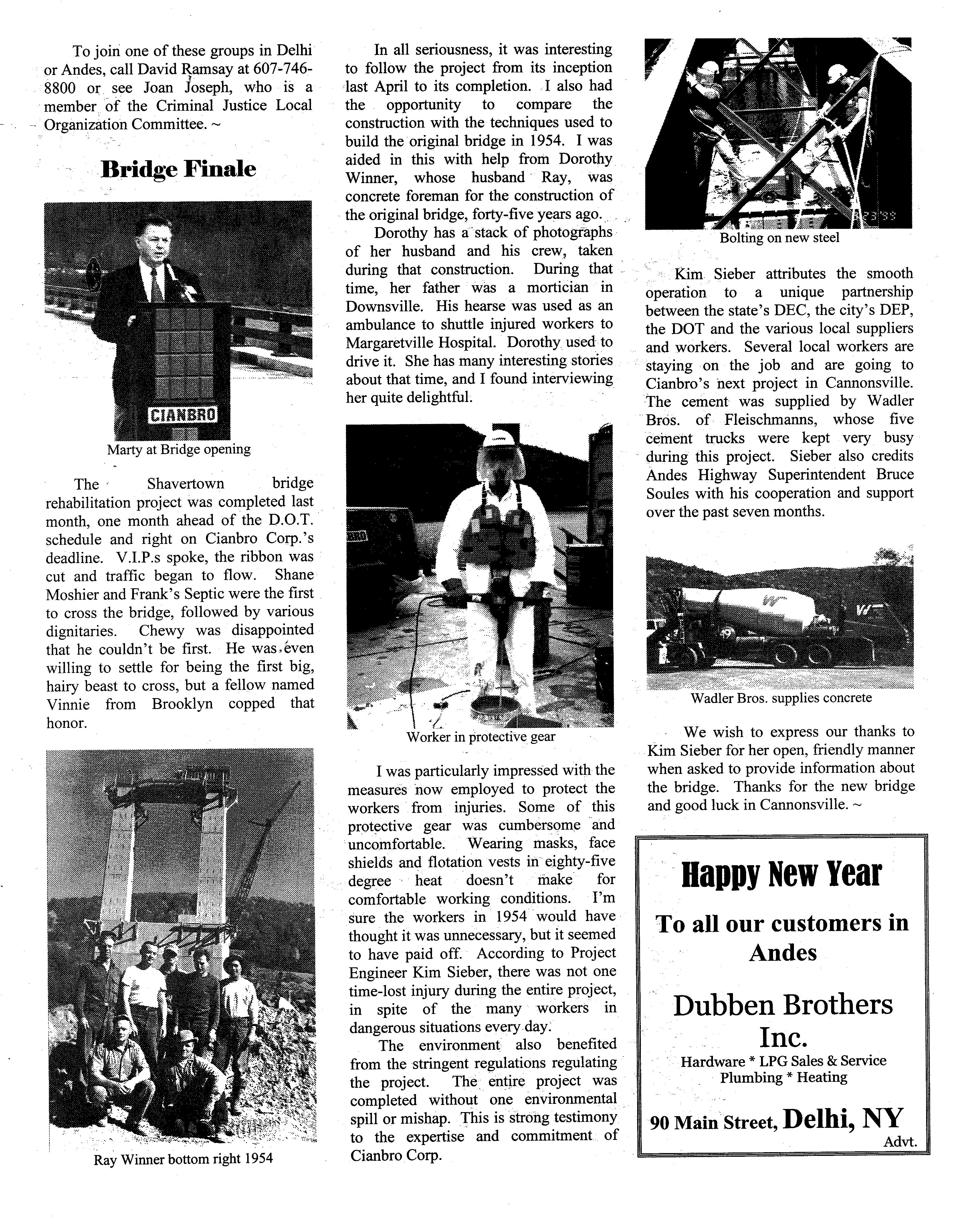 ANDES GAZETTE - January 2000 - Page 4