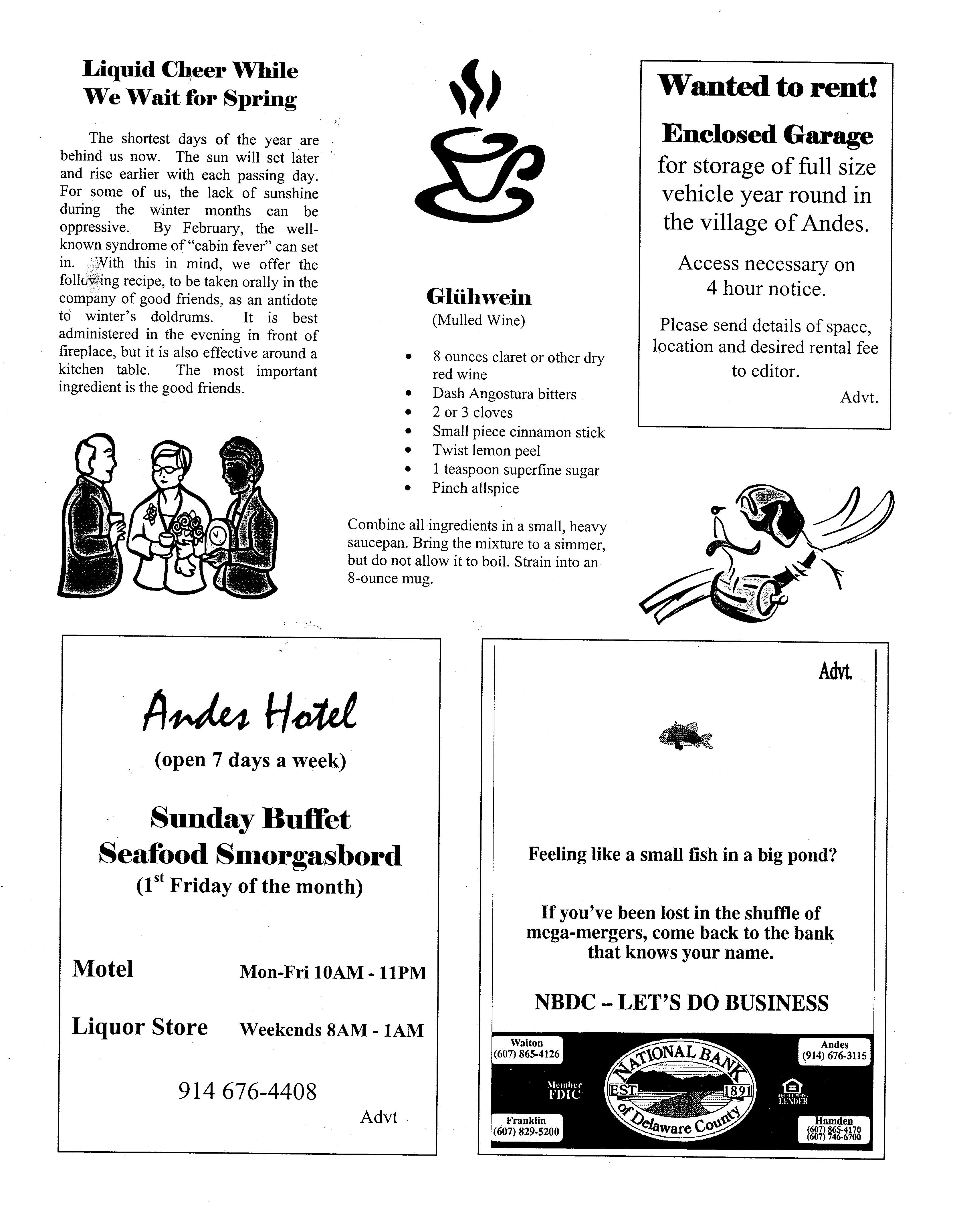 ANDES GAZETTE - January 2000 - Page 8