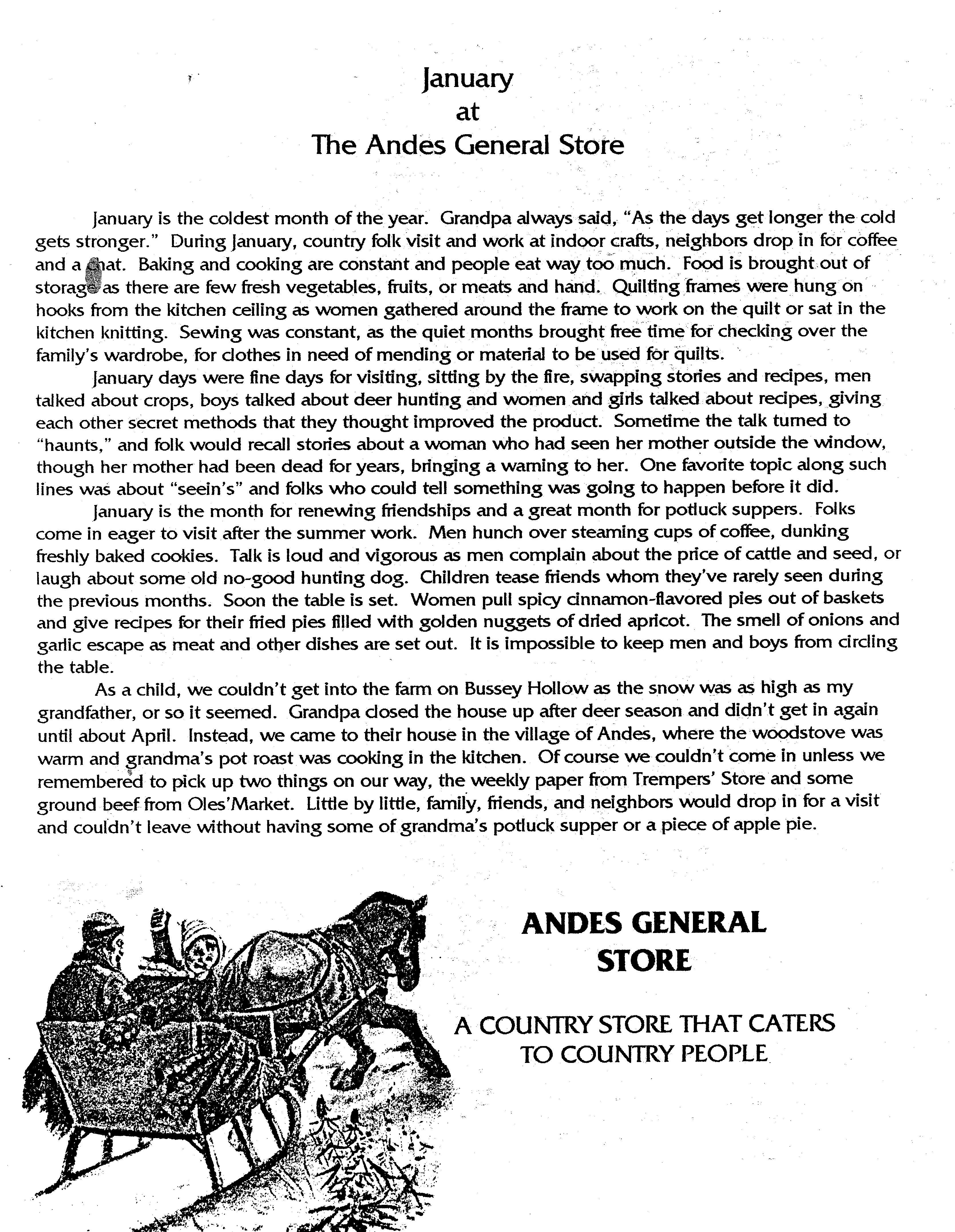 ANDES GAZETTE - January 2000 - Page 9