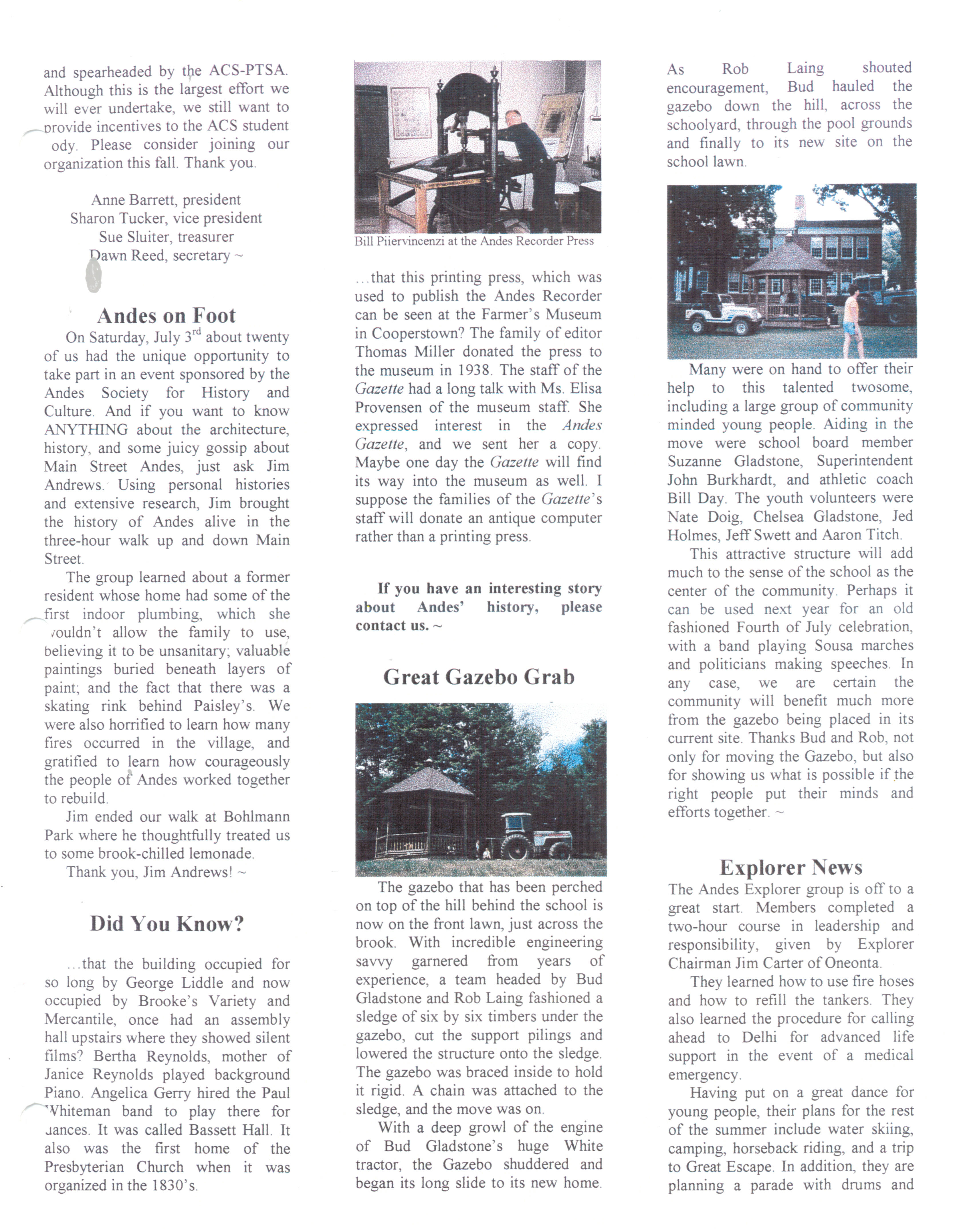 ANDES GAZETTE - August 1999 - Page 3
