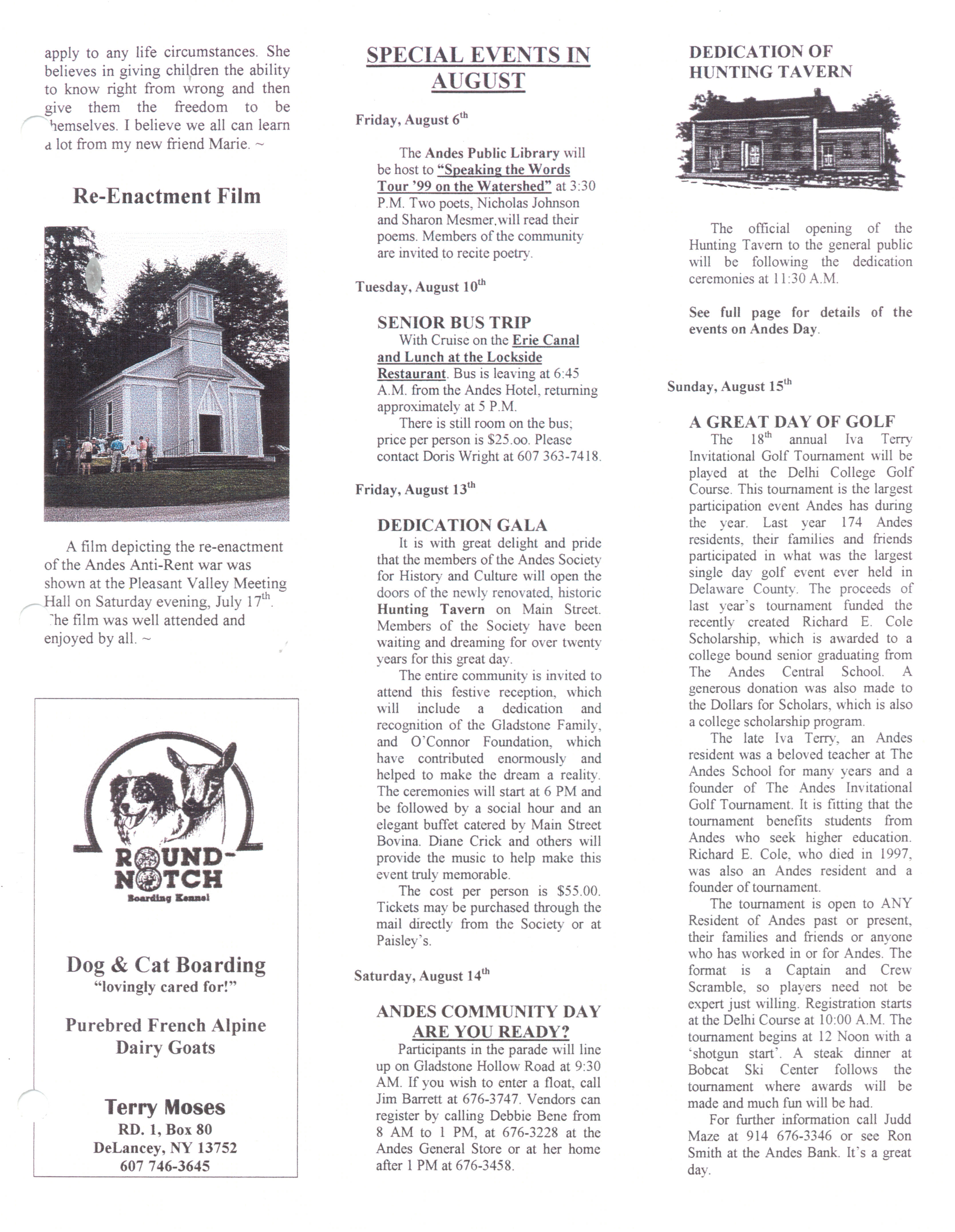 ANDES GAZETTE - August 1999 - Page 7