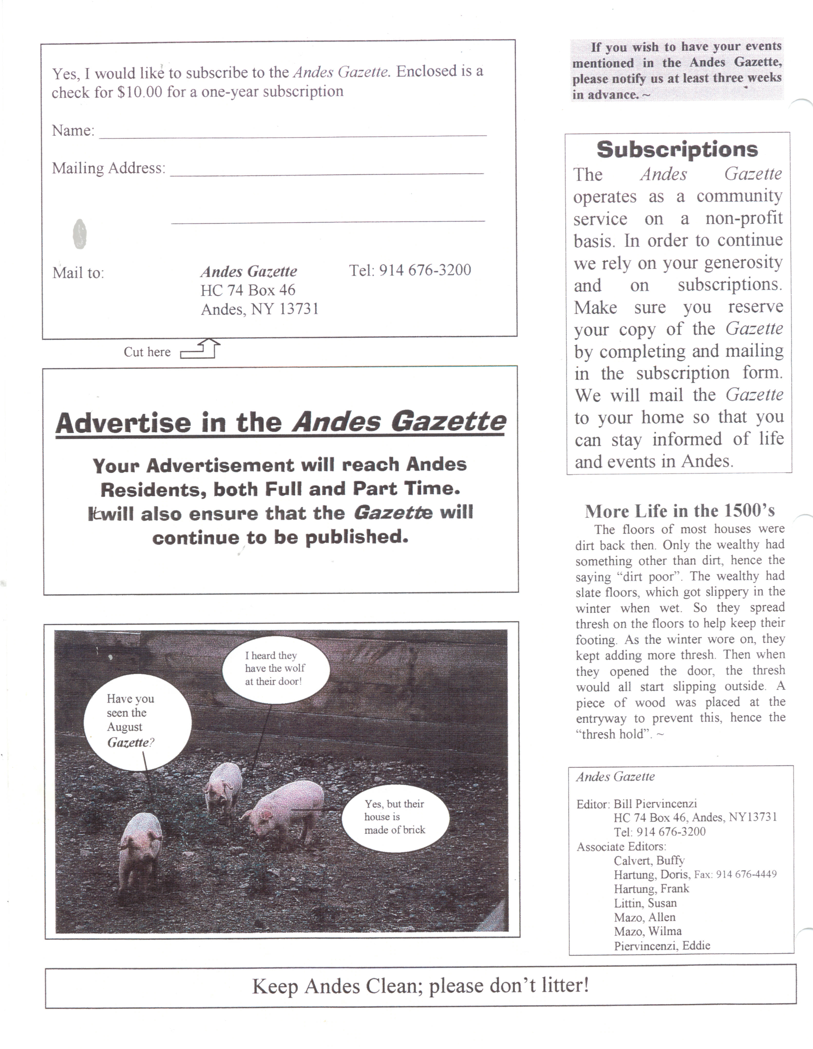 ANDES GAZETTE - August 1999 - Page 8