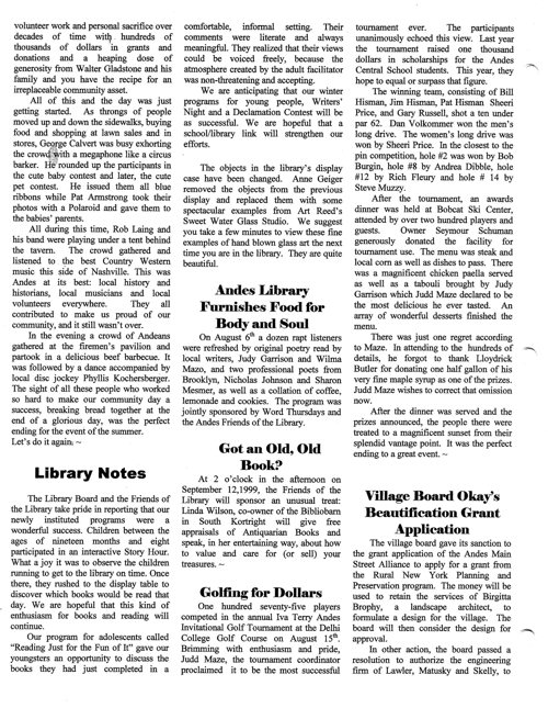ANDES GAZETTE - SEPTEMBER 1999 - Page 2