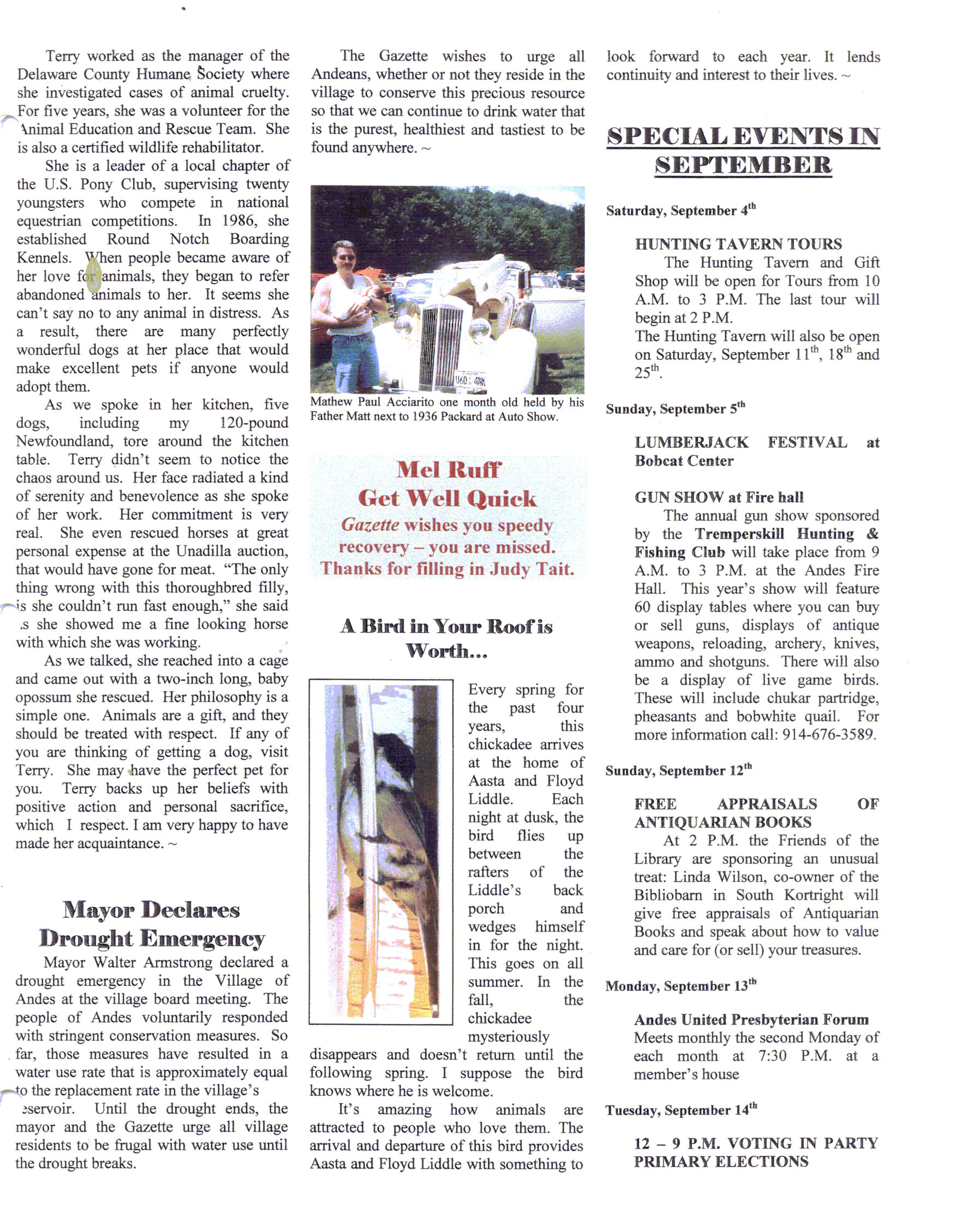 ANDES GAZETTE - SEPTEMBER 1999 - Page 5