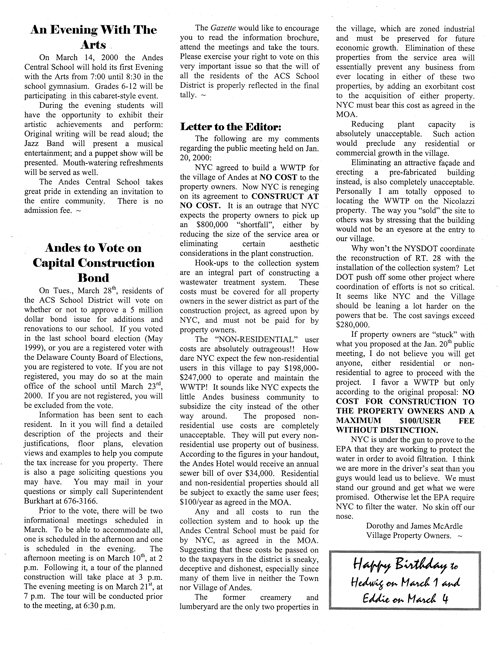 ANDES GAZETTE - March 2000 - Page 3