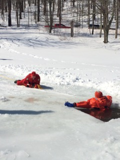 ANDES FIRE DEPARTMENT TRAINS FOR ICE RESCUE - April 2015