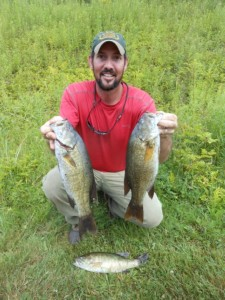 Kris McShane with Pepacton smallmouths
