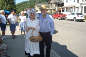 Wilma & Allen Mazo in Period dress