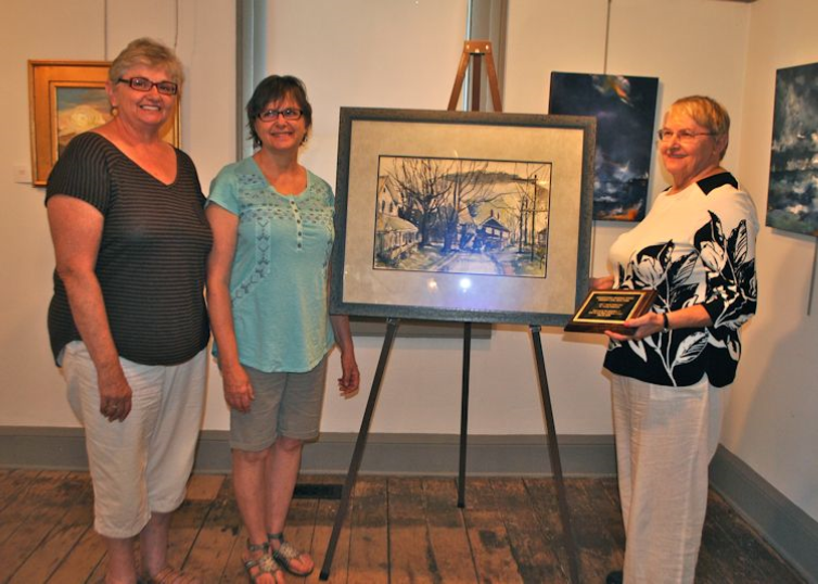 ECKERT SISTERS GIVE SHAVERTOWN PAINTING BY GEORGE BALLANTINE TO ANDES SOCIETY FOR HISTORY AND CULTURE — August 2016