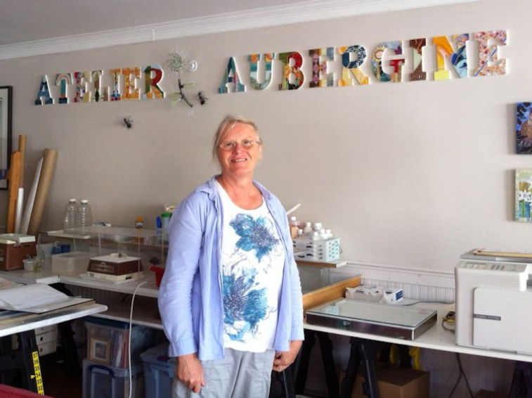JUST PHYLLISOPHY: SUZANNE FORTIN, ATELIER AUBERGINE - September 2016