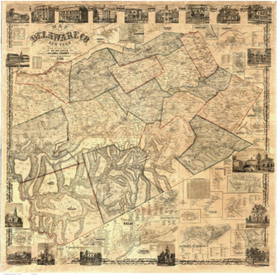 BARBARA O. COLE'S GOULD MAP IS GIFT TO TOWN HALL  - August 2018
